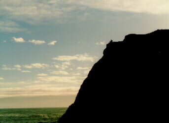 Image of cliff high above Pacific Ocean