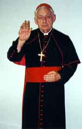 Photo of Phill Miller blessing us as a Cardinal
