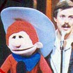 Photo of Ronn Lucas with Ronn's famous puppet Billy the Kid